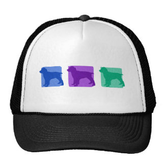 Colorful English Springer Spaniel Silhouettes Hat