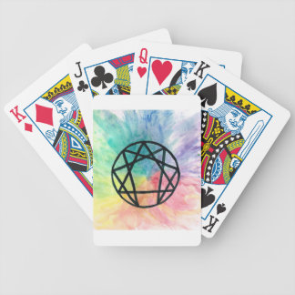 Colorful Enneagram Bicycle Playing Cards