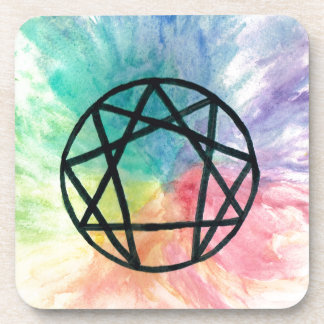 Colorful Enneagram Coaster