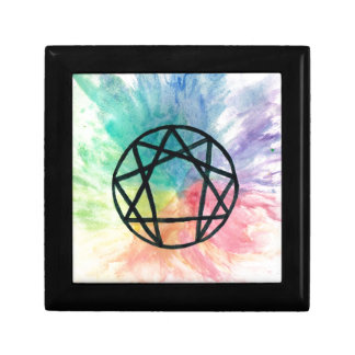 Colorful Enneagram Keepsake Box