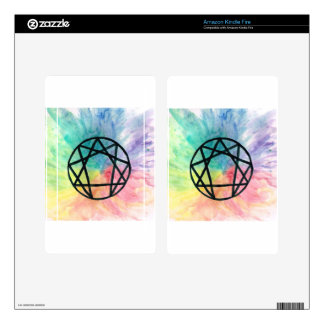 Colorful Enneagram Kindle Fire Skin