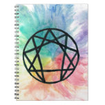 Colorful Enneagram Spiral Note Book