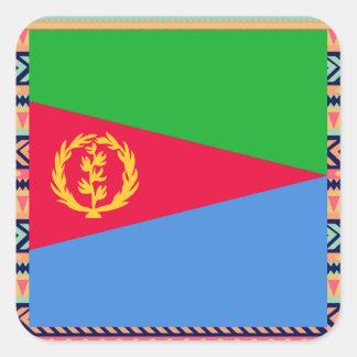 Colorful Eritrea Flag Box Square Sticker
