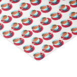 Colorful Espresso Cup and Saucer Photograph Tissue Paper