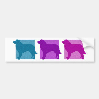 Colorful Estrela Mountain Dog Silhouettes Bumper Sticker