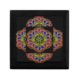 Colorful Ethnic Necklace Pendent jewel art on gift Keepsake Box
