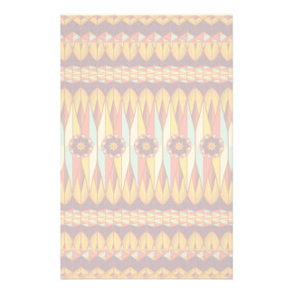 Colorful ethnic pattern stationery