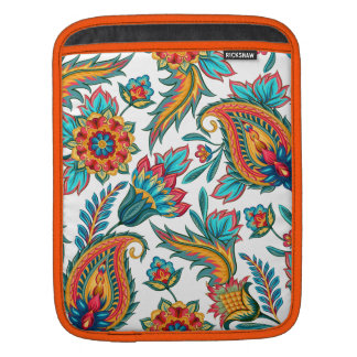 Colorful Ethnic Watercolors Vintage Floral Paisley Sleeve For iPads