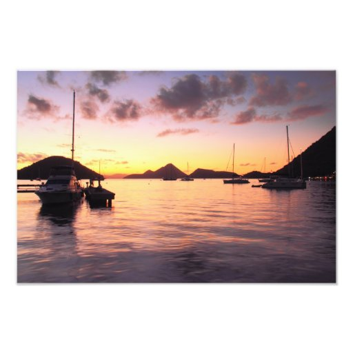 Colorful evening in the Caribbean Photo Print