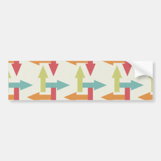 Colorful Every Direction Arrows Blue Red Orange Bumper Sticker