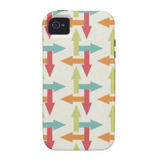 Colorful Every Direction Arrows Blue Red Orange Case-Mate iPhone 4 Cases