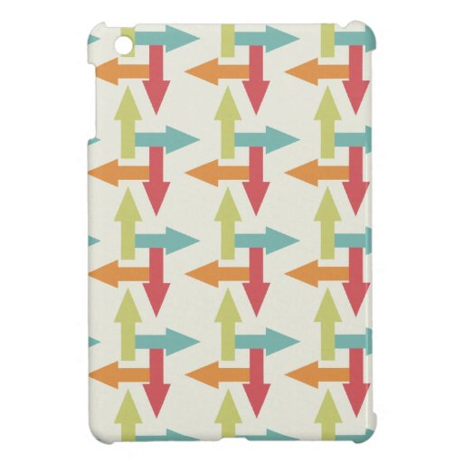 Colorful Every Direction Arrows Blue Red Orange iPad Mini Cover