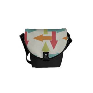 Colorful Every Direction Arrows Blue Red Orange Messenger Bag