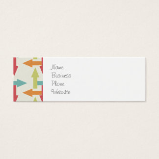 Colorful Every Direction Arrows Blue Red Orange Mini Business Card