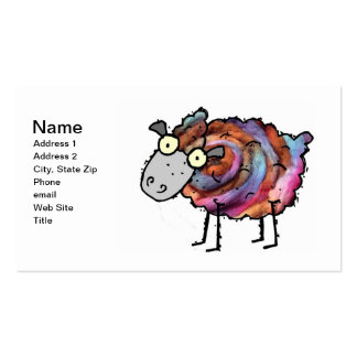 Colorful Ewe Business Card