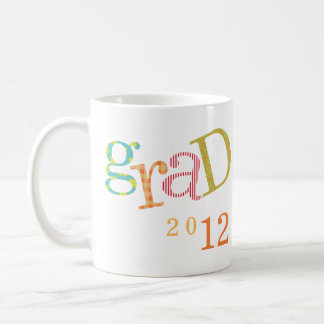 Colorful excitement graduation class year custom coffee mug