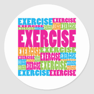Colorful Exercise Classic Round Sticker