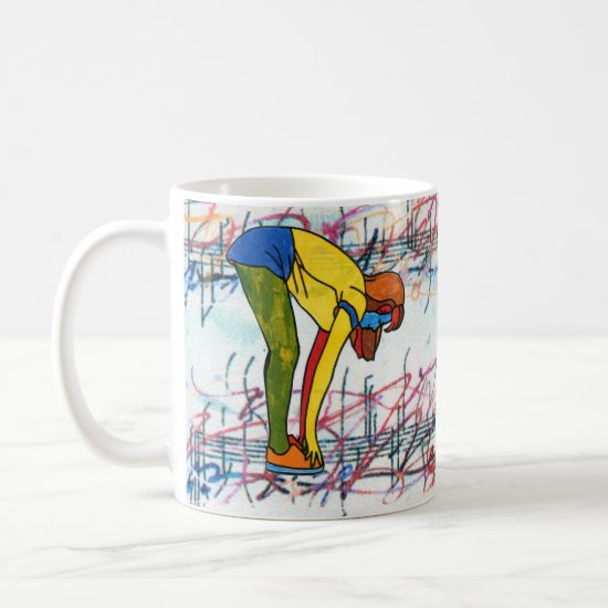 colorful exercise girl music sheet classic mug