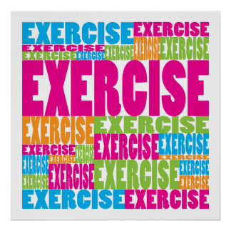 Colorful Exercise Poster