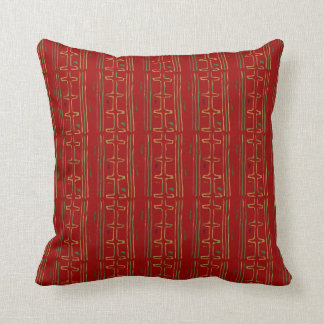 Colorful Exotic African Mudcloth Pattern Pillow