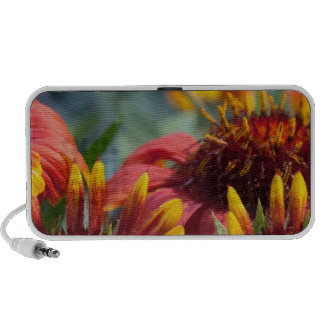 Colorful Exotic Flower Show Greetings Blessings Notebook Speakers