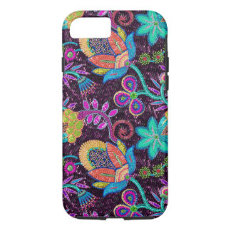 Colorful Exotic Flowers Glass-Beads Effect iPhone 7 Case