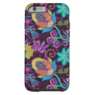 Colorful Exotic Flowers Glass-Beads Effect Tough iPhone 6 Case