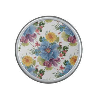 Colorful Exotic Flowers Pattern Bluetooth Speaker