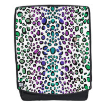 Colorful Exotic Leopard Animal Print Backpack