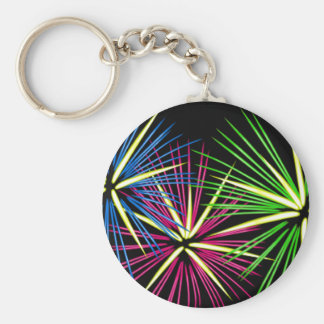 Colorful Exploding Fireworks Keychain
