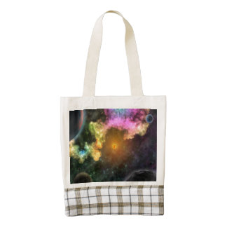 Colorful Explosion in Space Zazzle HEART Tote Bag