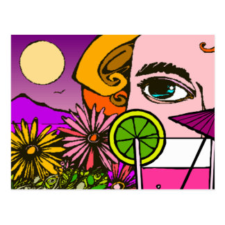 Colorful Eye-Catching Vacation Greetings Postcard