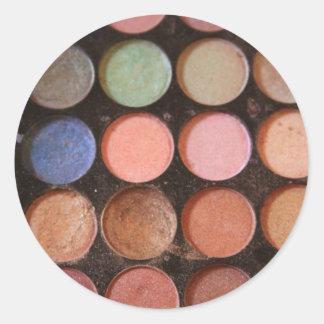 Colorful eyeshadows classic round sticker