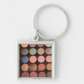 Colorful eyeshadows keychain