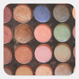 Colorful eyeshadows square sticker