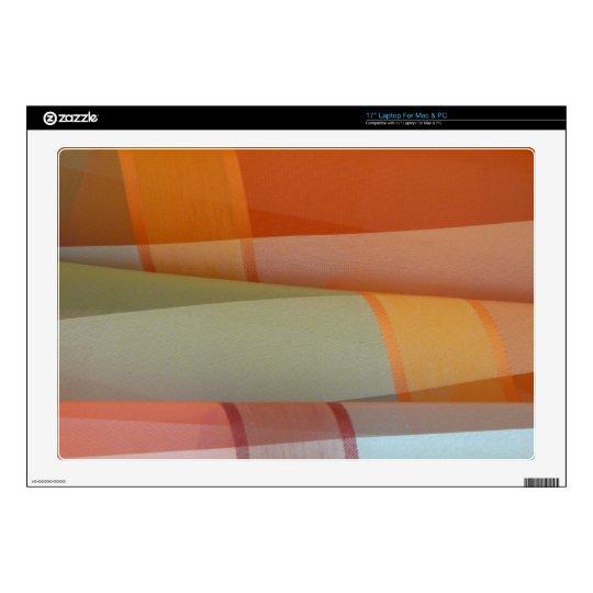 "Colorful Fabric 17"" Laptop Skin"