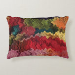 Colorful Fabric Abstract Accent Pillow