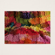 Colorful Fabric Abstract ATC Business Card at Zazzle