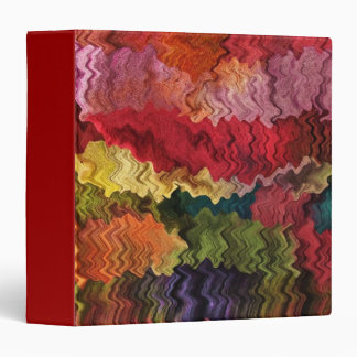 Colorful Fabric Abstract Binder