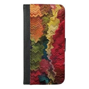 Colorful Fabric Abstract iPhone 6 Plus Wallet Case