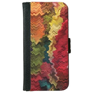 Colorful Fabric Abstract iPhone 6 Wallet Case