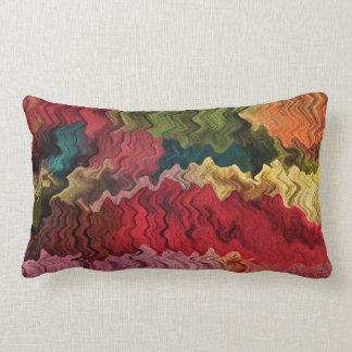 Colorful Fabric Abstract Lumbar Pillow