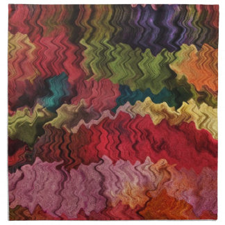 Colorful Fabric Abstract Napkin
