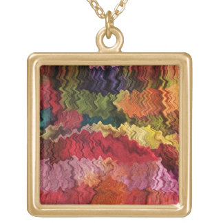 Colorful Fabric Abstract Necklace