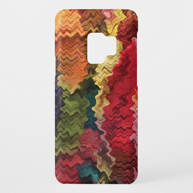 Colorful Fabric Abstract Pattern Galaxy S9 Case
