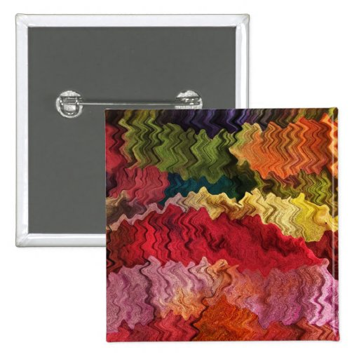 Colorful Fabric Abstract Pin