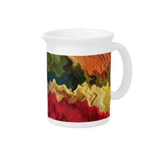 Colorful Fabric Abstract Pitcher