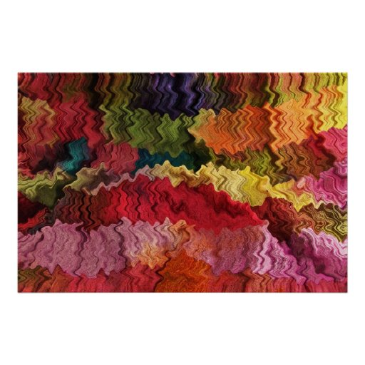Colorful Fabric Abstract Poster