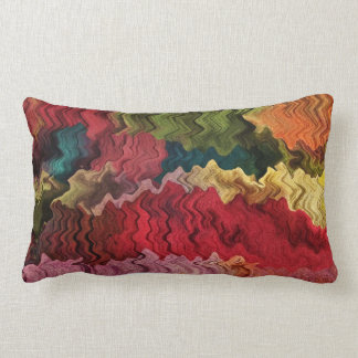 Colorful Fabric Abstract Throw Pillow