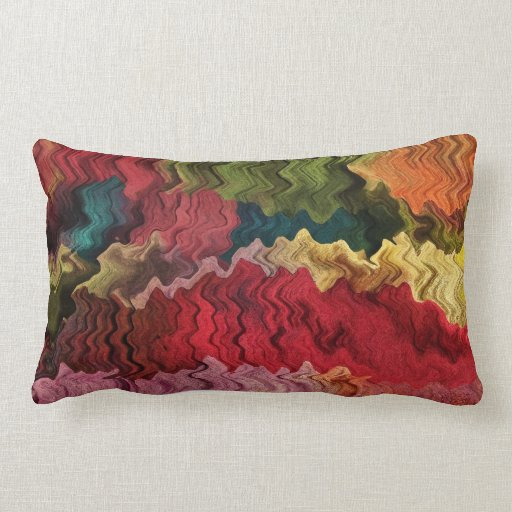 Throw Pillows Vintage Fabric : Colorful Fabric Abstract Throw Pillows Zazzle